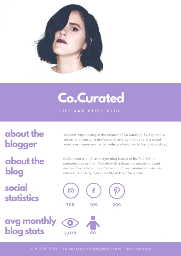 Co.Curated Media Kit